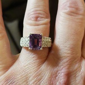 Sterling Silver Amethyst Gemstone Ring